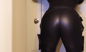 Black Widow Bodysuit From Behind