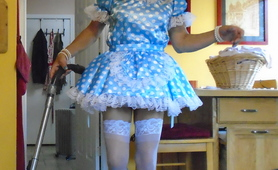 Blue Polka Dot Sissy Dress